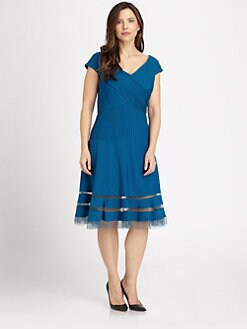 Tadashi Shoji, Salon Z - Pintucked Dress