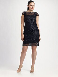 Kay Unger, Salon Z - Lace Shift Dress