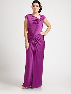 Tadashi Shoji, Salon Z - Jeweled Long Dress