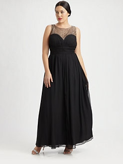 Aidan Mattox, Salon Z - Silk Sweetheart Gown