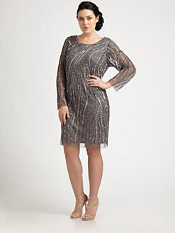 Aidan Mattox, Salon Z - Beaded Shift Dress