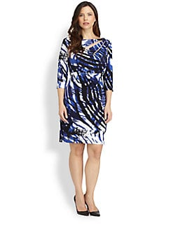 Kay Unger, Salon Z - Animal-Print Dress