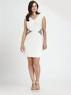 Kay Unger, Salon Z - Color-Inset Dress