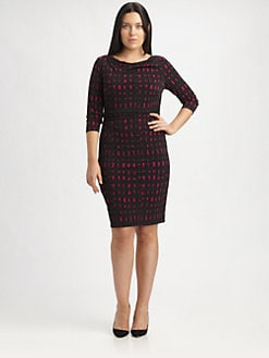 David Meister, Salon Z - Printed Jersey Dress