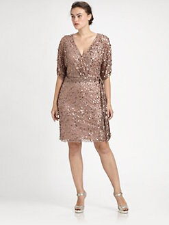 Aidan Mattox, Salon Z - Sequin Wrap Dress