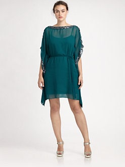 Aidan Mattox, Salon Z - Sequin-Trim Caftan Dress