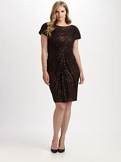 Tadashi Shoji, Salon Z - Sequin/Mesh Dress