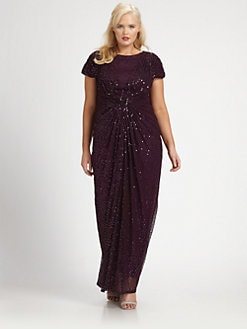Tadashi Shoji, Salon Z - Sequin/Mesh Gown