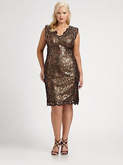 Tadashi Shoji, Salon Z - Sequin Shift Dress