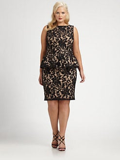 Plus-Size Cocktail Dress, Tadashi Shoji
