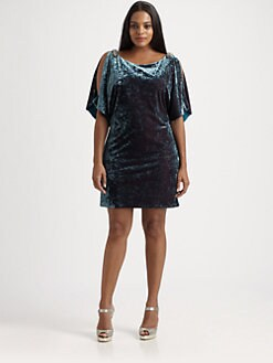 Aidan Mattox, Salon Z - Velvet Cold-Shoulder Dress