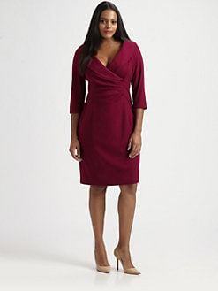 Kay Unger, Salon Z - Shawl-Collar Dress