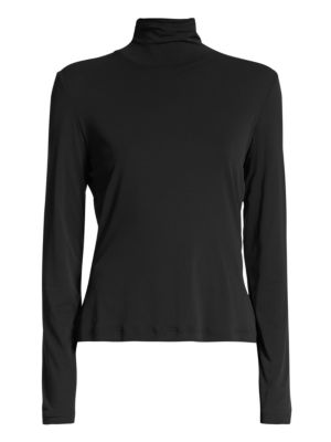 Caviar Collection Fine Jersey Turtleneck Top
