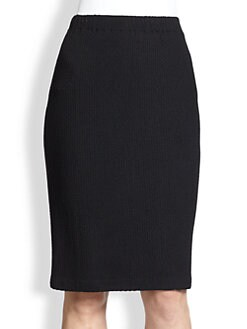 St. John - Textured Stretch Wool-Blend Pencil Skirt