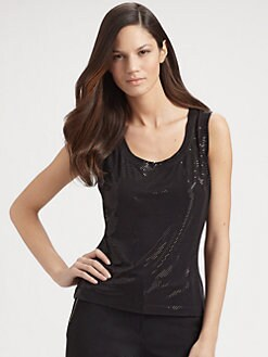 St. John - Sleeveless Sparkle Top