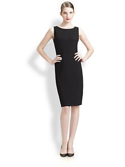 St. John - Textured Sheath Dress