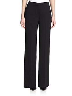 St. John - Stretch Wide-Legged Pants