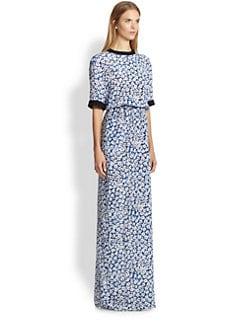 emanuel ungaro - Silk Micro Floral Maxi Dress