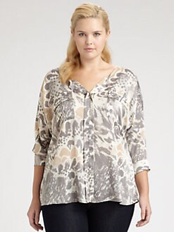 T-bags Los Angeles, Salon Z - Abstract Floral Print Shirt
