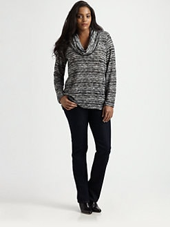 Splendid, Salon Z - Striped Cowlneck Sweater