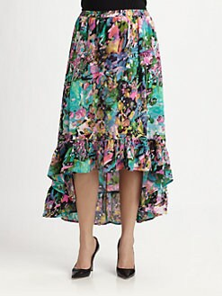 Tolani, Salon Z - Silk Sydney Hi-Lo Skirt