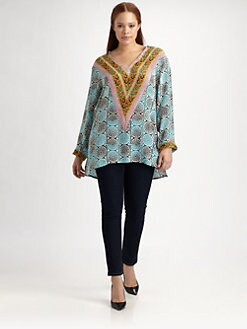 Tolani, Salon Z - Silk Hooded Tunic