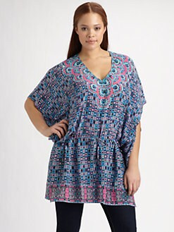 Tolani, Salon Z - Silk Candice Drawstring Tunic