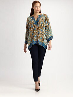 Tolani, Salon Z - Silk Justin Tunic