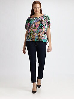 Tolani, Salon Z - Silk Emerald Top