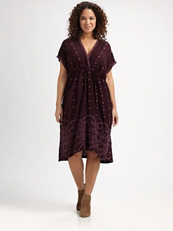 Johnny Was, Salon Z - Embroidered V-Neck Dress