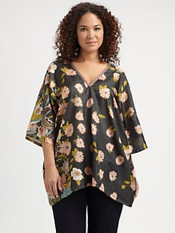 Johnny Was, Salon Z - Silk Dolman Tunic