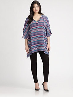 Tolani, Salon Z - Silk Zigzag Tunic