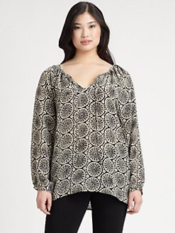 Tolani, Salon Z - Silk Roxanne Top