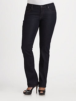 James Jeans, Salon Z - High Rise Straight Leg Jeans