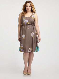 Johnny Was, Salon Z - Silk Floral-Print Dress