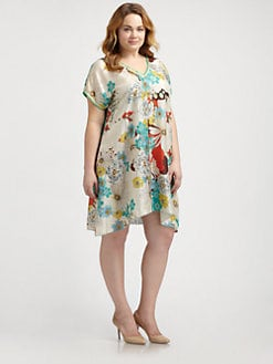 Johnny Was, Salon Z - Floral-Print Tunic
