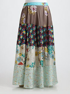 Johnny Was, Salon Z - Silk Patchwork Skirt
