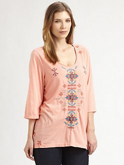 Johnny Was, Salon Z - Embroidered Kyle Tunic