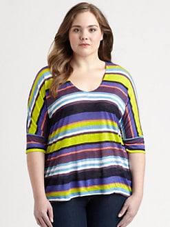Splendid, Salon Z - Striped Jersey Top