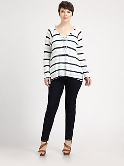 Splendid, Salon Z - Modal Striped Raglan Top