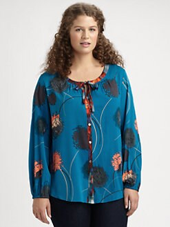 Anna Scholz, Salon Z - Printed Button-Down Blouse