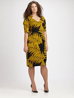 Anna Scholz, Salon Z - Leaf-Print Dress
