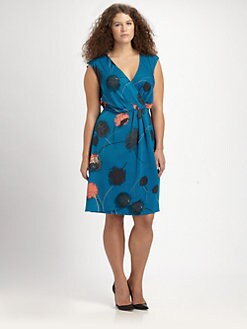 Anna Scholz, Salon Z - Printed Wraparound Dress