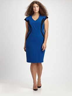 Anna Scholz, Salon Z - Colorblock Sheath Dress