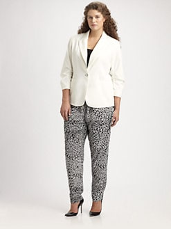 Anna Scholz, Salon Z - Tailored Ruched-Sleeve Blazer