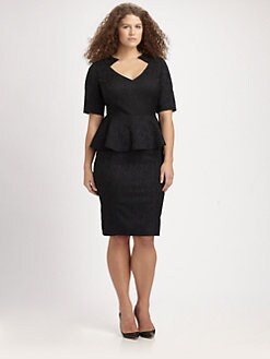 Anna Scholz, Salon Z - Jacquard Peplum Dress