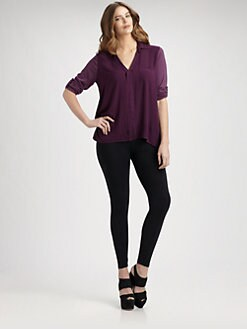 Splendid, Salon Z - V-Neck Jersey Top