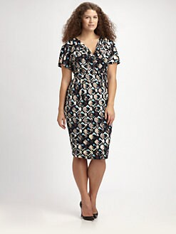 Anna Scholz, Salon Z - Printed Cowlneck Dress