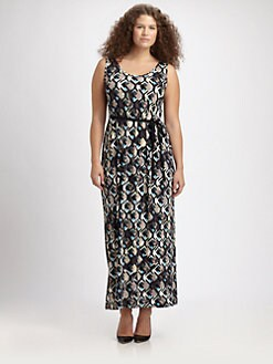 Anna Scholz, Salon Z - Jersey Printed Maxi Dress