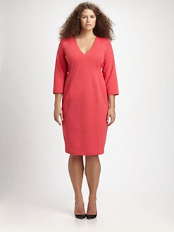 Anna Scholz, Salon Z - Ponte Jersey Seamed Dress